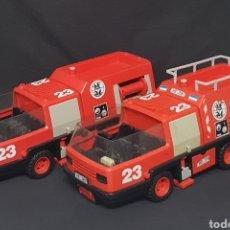 Playmobil: LOTE DE 2 CAMIONES DE BOMBEROS VINTAGE PLAYMOBIL. Lote 261547170