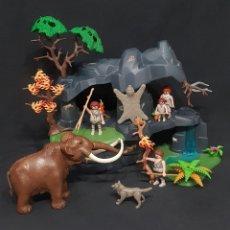 Playmobil: CUEVA PREHISTÓRICA CON MAMUTS, CAVERNÍCOLAS, REF 5100. Lote 261549205
