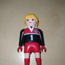 Playmobil: FIGURA HOMBRE PORTERO PLAYMOBIL. JUGADOR DE FUTBOL. DORSAL 1. Lote 263608265