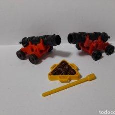 Playmobil: PLAYMOBIL 3480 3550 3053 3750 CAÑONES MUNICION BAQUETA BOLAS BARCO PIRATAS MARINEROS 1° GENERACION. Lote 263794460