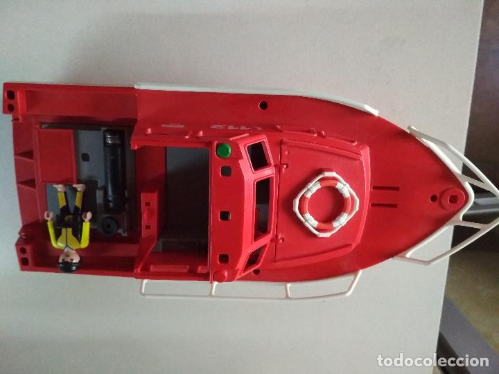 PLAYMOBIL BARCO RESCATE 112 BOMBEROS EMERGENCIAS MAR, 40 CNT LARGO, MIRAR FOTOS (Juguetes - Playmobil)