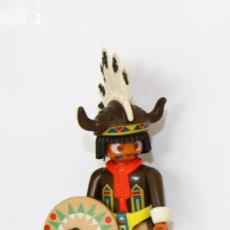 Playmobil: PLAYMOBIL MEDIEVAL FIGURA GUERRERO INDIO OESTE JEFE. Lote 277822678
