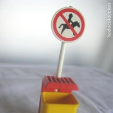 Playmobil: PLAYMOBIL SEÑAL DE PROIBIDO HIPICA VER FOTOS ADICIONALES. Lote 267086354