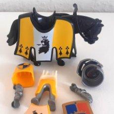 Playmobil: PLAYMOBIL CABALLERO ORDEN DEL LEON AMARILLO CABALLO. Lote 267486824