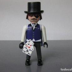 Playmobil: PLAYMOBIL PERSONAJE OESTE JUGADOR POÑER CON CHISTERA Y CARTAS. Lote 268775164