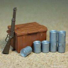 Playmobil: PLAYMOBIL LATAS BAÚL Y RIFLE, ACCESORIOS SOLDADOS OESTE WESTERN NORDISTAS CONFEDERADOS. Lote 268787234