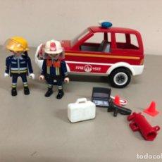 Playmobil: PLAYMOBIL JEFE DE BOMBEROS CON COCHE 5364. Lote 269045553