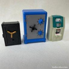 Playmobil: PLAYMOBIL - CAJERO ATM + CAJA FUERTE + CAJA FUERTE GRANDE + BILLETES + LINGOTES ORO - REF. 4059. Lote 275117173
