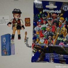Playmobil: PLAYMOBIL SERIE 11 STEAMPUNK CAZAVAMPIROS FUTURO CAZAFANTASMAS SOBRE SORPRESA AZUL. Lote 275462003