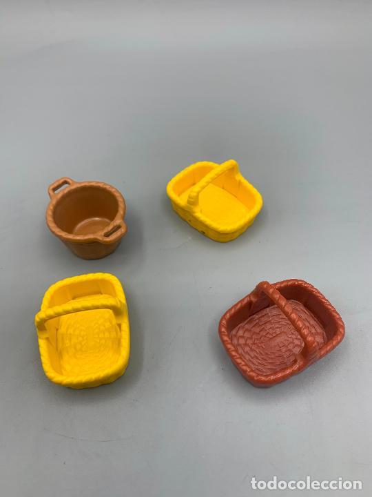 PLAYMOBIL LOTE CESTOS CANASTOS DIFERENTE FORMA Y COLOR (Juguetes - Playmobil)