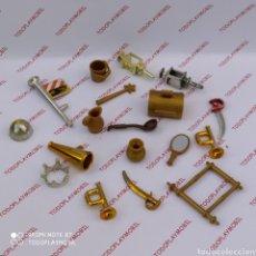 Playmobil: PLAYMOBIL LOTE DE PIEZAS DORADAS. Lote 277445988