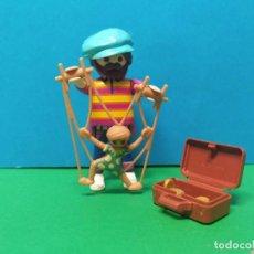 Playmobil: PLAYMOBIL SERIE 20 AZUL. SOBRES SORPRESA. REF 70148. TITIRITERO. FIGURA 6. Lote 277632023
