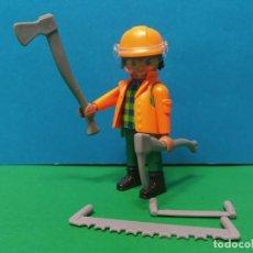 Playmobil: PLAYMOBIL SERIE 20 AZUL. SOBRES SORPRESA. REF 70148. LEÑADOR. FIGURA 7. Lote 277632213