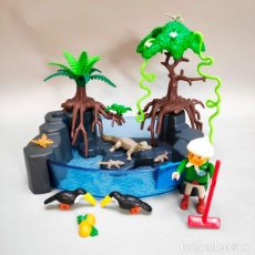 Playmobil: PLAYMOBIL REF. 4463 ESTANQUE PISCINA CON CAIMANES. Lote 277633693