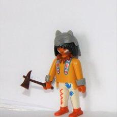 Playmobil: PLAYMOBIL MEDIEVAL FIGURA GUERRERO INDIO OESTE JEFE. Lote 277822723