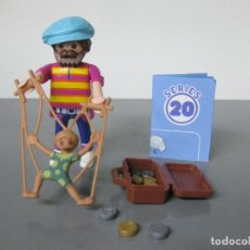 Playmobil: PLAYMOBIL TITIRITERO SERIE 20 AZUL SOBRE SORPRESA NUEVO. Lote 278347723