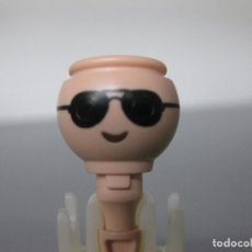Playmobil: PLAYMOBIL CABEZA CON GAFAS RECAMBIO SOL. Lote 278347748