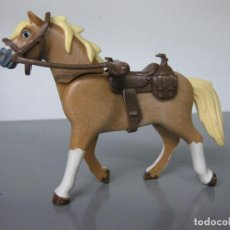 Playmobil: PLAYMOBIL CABALLO MODERNO OESTE CON SILLA RIENDA Y BOCADO APEROS. Lote 278348333