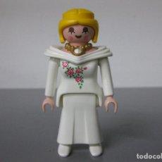 Playmobil: PLAYMOBIL DAMA FALDA LARGA BLANCA VICTORIANA. Lote 278354448