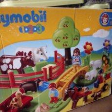 Playmobil: PRADO CON ANIMALES DE PLAYMOBIL 1 2.3 MODELO 6770 CON SU CAJA ORIGINAL.. Lote 278941383