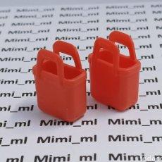 Playmobil: PLAYMOBIL 2 BOLSOS ROJOS PRIMERA ÉPOCA CESTAS MUJER. Lote 283818378
