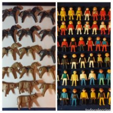 Playmobil: LOTE DE 60 MUÑECOS Y 16 ANIMALES PLAYMOBIL DE LOS 70. Lote 283888283