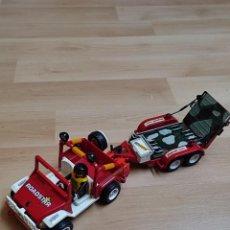 Playmobil: PLAYMOBIL JEEP ROADSTAR ROJO CON CARRO. Lote 287897553