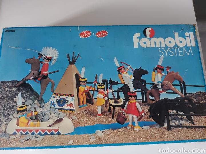 CAJA VACÍA INDIOS AÑOS 70 FAMOBIL PLAYMOBIL (Juguetes - Playmobil)