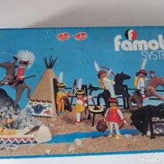 Playmobil: CAJA VACÍA INDIOS AÑOS 70 FAMOBIL PLAYMOBIL. Lote 288136643
