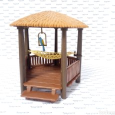 Playmobil: PLAY MOBIL CABAÑA COMPLETA CHOZA ISLA PIRATA COLUMPIO LORO 3799 4073 7298 7436 CHOZO CAÑON BARCO. Lote 288356963