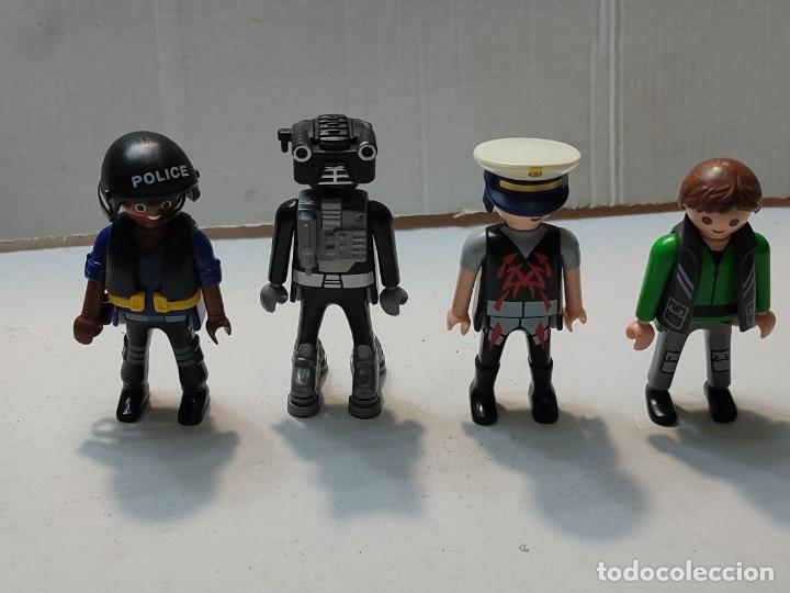 LOTE PLAYMOBIL ROBOT,POLICÍAS LOS DE LAS FOTOS (Juguetes - Playmobil)