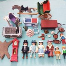 Playmobil: LOTE DE CLICKS Y ACCESORIOS VICTORIANOS DE PLAYMOBIL + CALESA. Lote 293860063