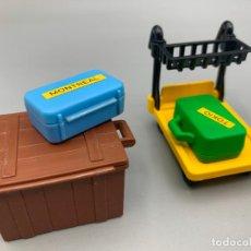 Playmobil: PLAYMOBIL BAÚL Y CARRO ESPECIAL ESTACIÓN DE TREN 4200 4300 4301 4202. Lote 294962178