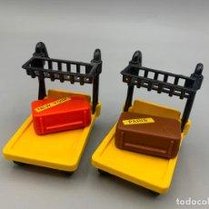 Playmobil: PLAYMOBIL BAÚL Y CARRO ESPECIAL ESTACIÓN DE TREN 4200 4300 4301 4202. Lote 294962203