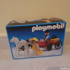 Playmobil: PLAYMOBIL.3587 CARRO CARRETA OESTE ROJA CAJA NUEVA SIN ABRIR. Lote 295688968