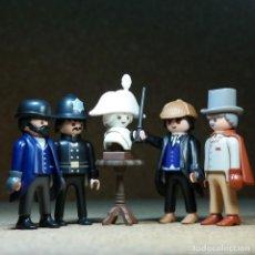 Playmobil: PLAYMOBIL SHERLOCK HOLMES, DR WATSON, INSPECTOR LESTRADE Y BOBBY EN LOS SEIS NAPOLEONES. Lote 297148228