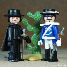 Playmobil: PLAYMOBIL EL ZORRO Y EL COMANDANTE MONASTERIO. Lote 297148398