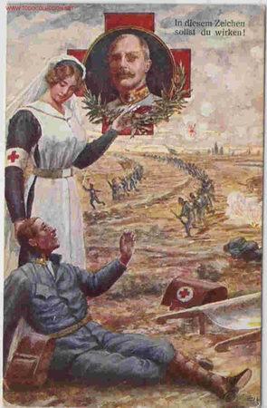 RARISIMA TARJETA DE CRUZ ROJA (Postales - Postales Temáticas - I Guerra Mundial)
