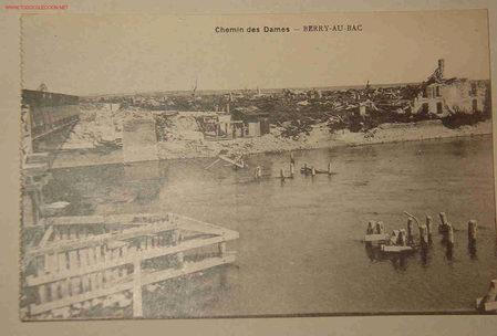 POSTAL DE BERRY-AU-BAC (Postales - Postales Temáticas - I Guerra Mundial)