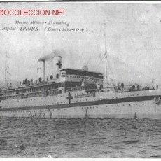 Postales: SPHINX.BARCO HOSPITAL.MARINA MILITAR FRANCESA.(1914). Lote 16020063