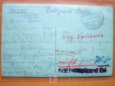 Postales: POSTAL FOTOGRAFICA DE GRUPO MILITAR MANUSCRITA Y CIRCULADA - Foto 2 - 16816611