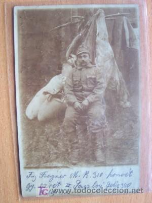 POSTAL CIRCULADA DE UN MILITAR (Postales - Postales Temáticas - I Guerra Mundial)