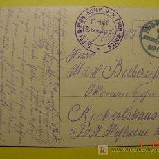 Postales: 4484 PRIMERA GUERRA MUNDIAL POSTAL ESCRITA POR SOLDADO ALEMAN DESDE LA FRANCIA OCUPADA 1915 C&C. Lote 6699764