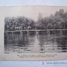 Postales: POSTAL DE 1ºGUERRA MUNDIAL: 265-6ºREGIMENT DE GENIE-PONT DE CHEVALETS SUR LE LOUËT...1910. Lote 20762295