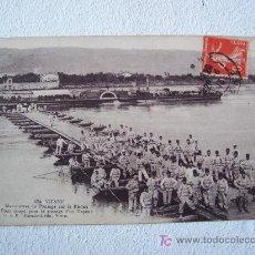 Postales: POSTAL DE 1ºGUERRA MUNDIAL: 524- VIENNE, MANEUVRE DE PONTAGE SUR LE RHÔNE.....(FRANCIA,CIRC.1913). Lote 20762297