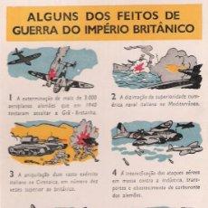 Postales: POSTAL PORTUGUESA ELOGIANDO LOS HECHOS DE GUERRA DEL IMPERIO BRITANICO. Lote 14848534