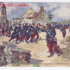 Postales: I GUERRA MUNDIAL BONITA POSTAL FRANCESA BATALLA DEL MARNE, 1914 ))). Lote 27354364