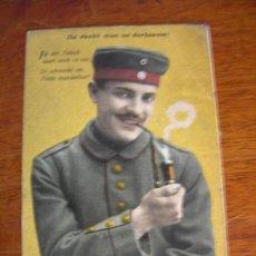 Postales: SOLDADO ALEMAN 1ª GUERRA MUNDIAL ( MATASELLO DE 1918 ). Lote 14115392