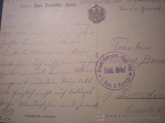 Postales: POSTAL ARTILLERIA 1 ª GUERRA MUNDIAL ESCRITA Y SELLO AÑO 1915 - Foto 2 - 26200832
