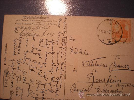 Postales: POSTAL INFANTERIA ALEMANA 1ª GUERRA MUNDIAL, ESCRITA Y CON SELLO DEL REICH AÑO 1917 - Foto 2 - 26200833